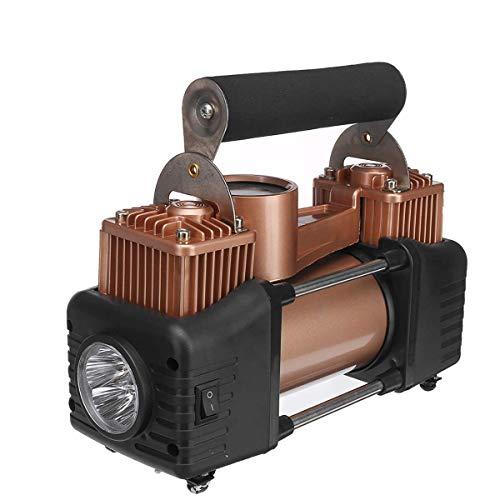 QWERTOUY Universal 12V 150psi digitale beweegbare dubbele cilinder-auto-luchtcompressor-rubberen bandenpomp voor auto vrachtwagen met licht