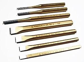 مثقب الدبابيس RN4530160 Rennsteig 4-1/2 بوصة × 1/16 بوصة, RNPCS7, Pin Punch/Cold Chisel 7-Piece Set