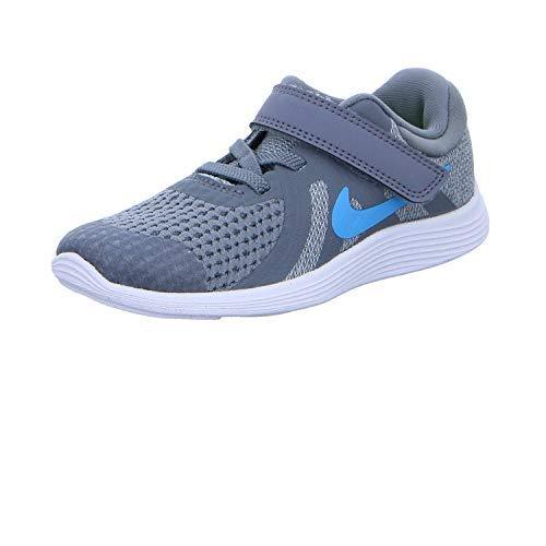 Nike Revolution 4 (TDV), Chaussons Bas Mixte bébé, Multicolore (Cool Grey/Blue Fury/Pure Platinum/Black 014), 19.5 EU