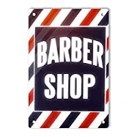RCY-T Retro Barber Shop サイン, 軽量アルミ壁の装飾ヴィンテージサイン for Men Cave Coffee Bar Home Garage Movie 20x30cm