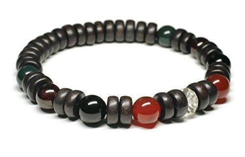 Unisex/Mens Gemstone Bracelet/Crystals to Help Aid Depression/Anti-Anxiety/Stress Relief/with Carnelian, Garnet, Bloodstone, Black Onyx, Citrine/Positive Energy/Holistic Wellness Jewelry