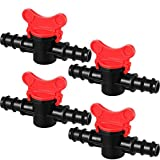 Drip Irrigation Switch Valve Gate Valves for 1/2 Inch Double Male Barbed Valve (4)
