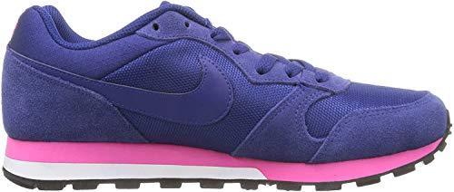 Nike MD Runner 2, Zapatillas de Running Mujer, Azul (Deep Royal Blue/Deep Royal Blue/Pink Fl/White 446), 36.5