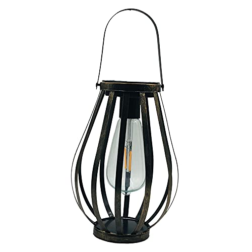 lahomia Linterna de Lámpara de Luz LED Solar Colgante Retro para Jardín, Patio, Terraza
