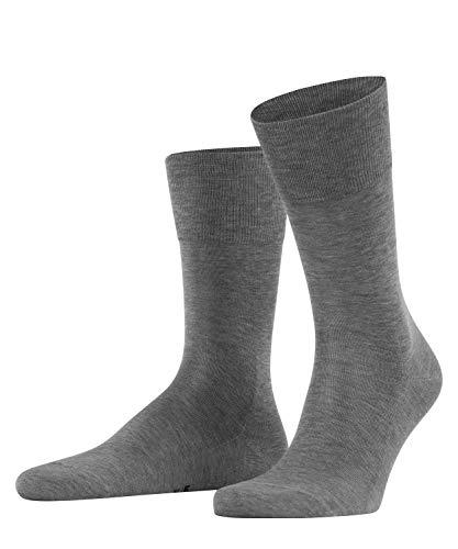 FALKE Herren Socken Tiago - 95prozent Baumwolle, 1 Paar, Grau (Light Grey Melange 3390), Größe: 49-50