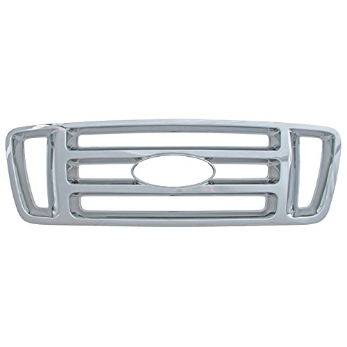 Bully GI-18 Triple Chrome Plated ABS Snap-in Bar Style Imposter Grille Overlay, 1 Piece