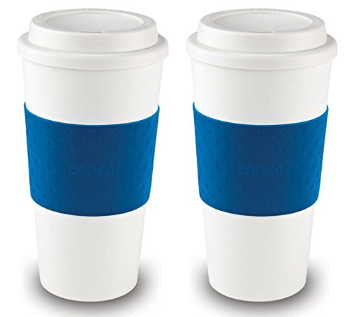 Copco Acadia Reusable To Go Mug, 16-ounce Capacity - Blue 2 Pack