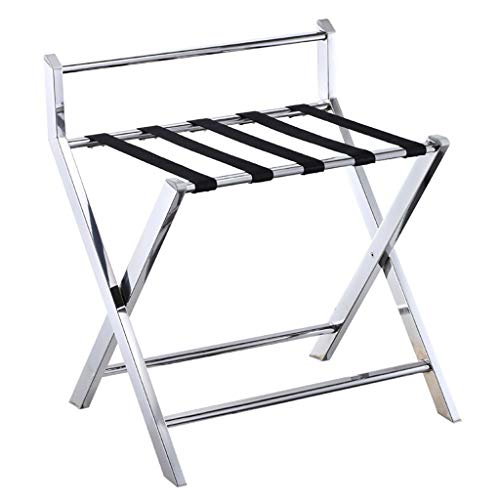 Best Review Of ZCCXLJ Hotel Luggage Rack Hotel Room Folding Tray Rack Shelf with Suitcase Clothes St...