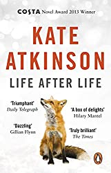 life after life by Kate Atkinson book cover with snow fox and rabbit