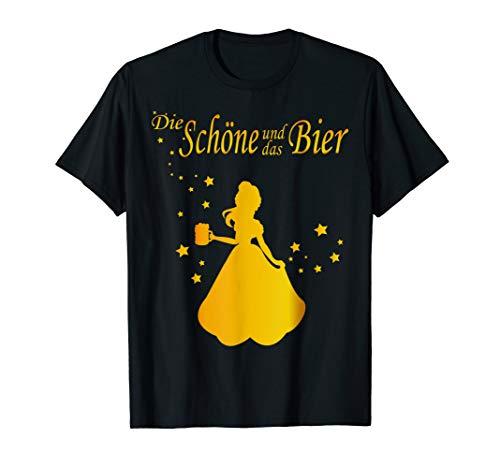 die schöne und das bier t-shirt damen JGA Karneval Fasching T-Shirt