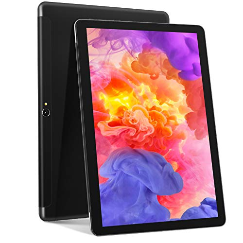 Tablet PC 10 Pollici Ultimo Tablet Android 10 - Tablet Ieggero MEBERRY: con 4 GB di RAM + 64 GB di ROM| Processore Quad-core| Certificato GSM| Doppia SIM| 8000mAh| WIFI| GPS| Doppia Fotocamera, Nero