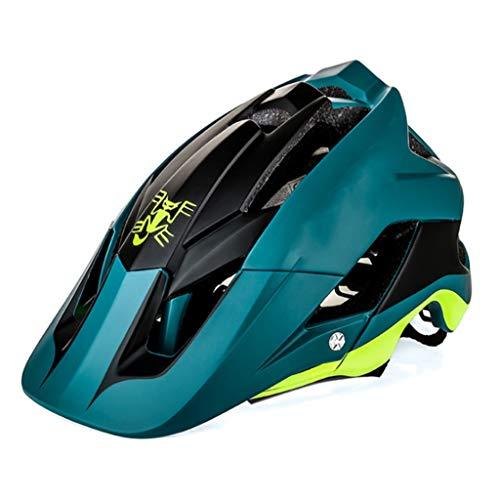 Outdoor sport houlian winkel Fiets Helm Mountainbike Geïntegreerde Molding Donker Groen Rijden Apparatuur Helm