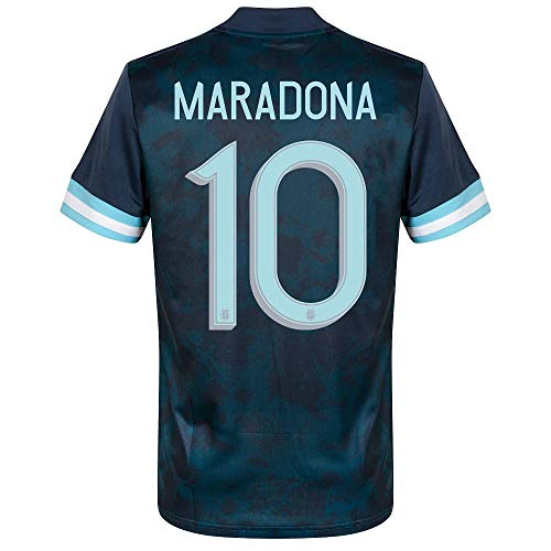 adidas Argentinien Away Maradona 10 Trikot 2020-2021 (Offizielle Beflockung) - S