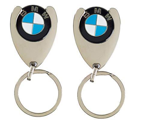 BMW 2 Stück Original Schlüsselanhänger Einkaufs Chip Einkaufswagen Einkaufschip 1er 2er 3er 4er 5er 6er 7er X1 X2 X3 X4 X5 X6
