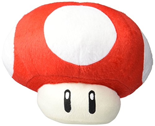 MoralBelief Super Mario Brothers Red Mushroom 8-inch Plush