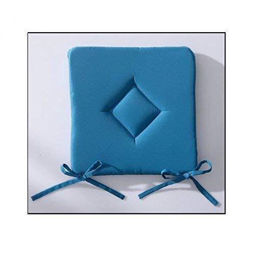 Today 261306 Galette Classique Polyester Bleu (Mer du Sud/Bleu), 40 x 40 cm