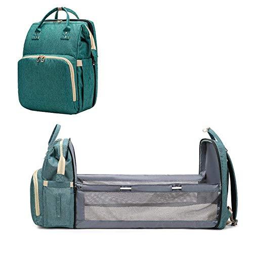 Sac à dos à langer pour bébé, sac à langer et lit d'enfant en un, transporteur multifonctionnel portable 4 en 1 pour lit de bébé, facile à transporter, grandes pièces, imperméable à l'eau en cours