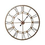 Inhouse - Reloj de pared (metal, 7500 mm), color cobre