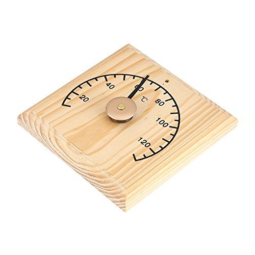 Bicaquu Mootea Saunathermometer, 0~140 ℃ Holzthermometer-Temperaturanzeige für an der Wand montierten Saunaraum