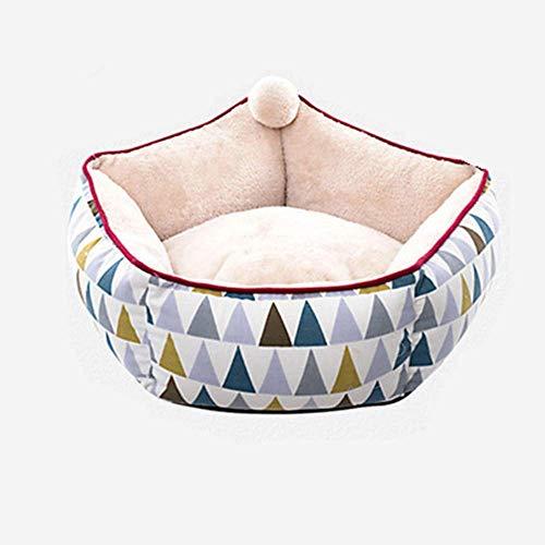 Chunjiao Hundebett warm halten Hund oder Katze Bed Lounge Sofa abnehmbare Abdeckung 100% Veloursleder Matratze Speicher Einfache Wartung Maschinenwäsche Plüsch-Hundebett Haustierbett/Sofa