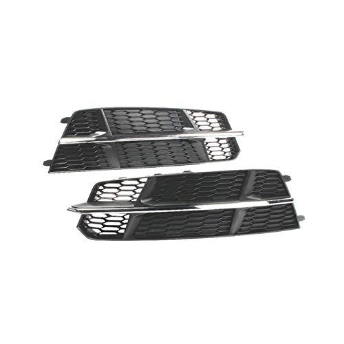 RelaxToday 2 Stück Auto Frontstoßstange Honeycomb Mesh Stoßstange Auto Nebelscheinwerfer Kühlergrill Grill, Für Audi S6 / A6 S-LINE C7.52015-2017