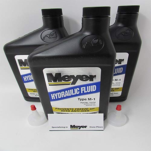Meyer 3 Pack Genuine OEM Hydraulic Fluid 15487 15134