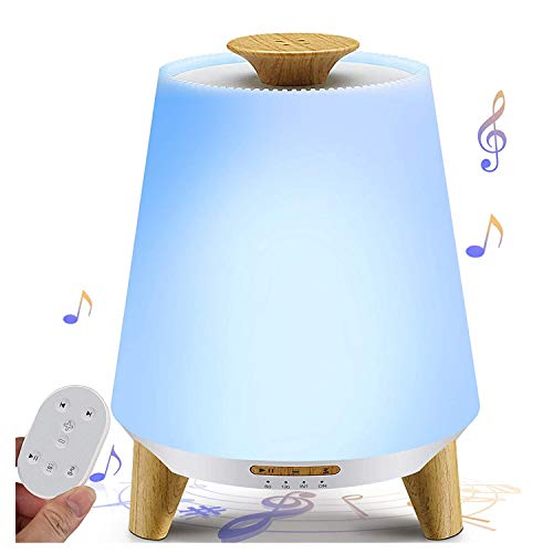 Tcaijing Remote Control Essential Oil Diffuser, Bluetooth Music Diffuser for Essential Oil, 300ML Ultrasonic Aroma Diffuser with Waterless Auto Shut-Off, 8 Color Change Table Lamp for Bedroom, Office