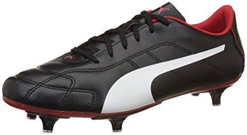 Puma Herren Classico C SG American Football Schuhe, Schwarz Black-White-High Risk Red, 46 EU