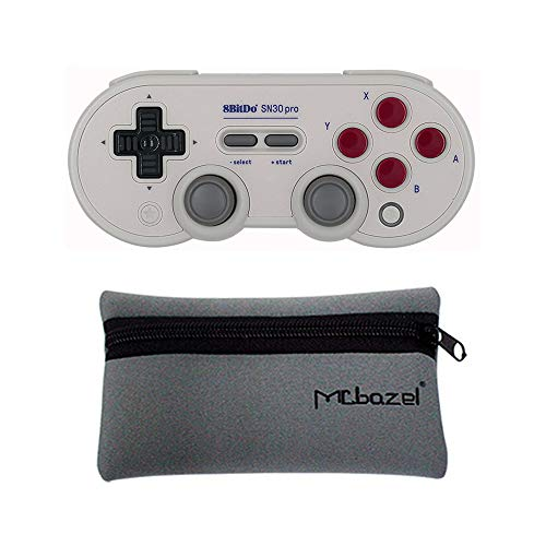 Mcbazel 8Bitdo SN30 PRO G Classic Edition Gamepad Bluetooth 4.0 per Windows/Android/MacOS/NS Switch con Borsa di stoccaggio Mcbazel