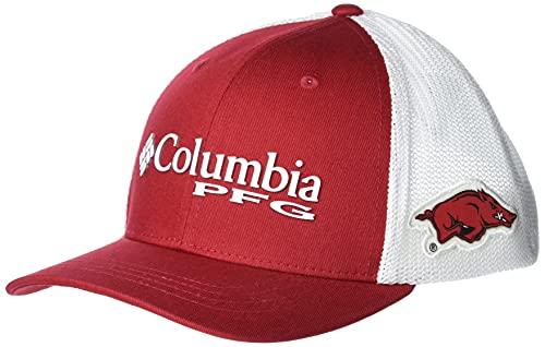 Columbia Collegiate PFG Mesh Snap Back Ball Cap, Unisex niños, Gorra, 1954491, Ark - Red Velvet, Talla única