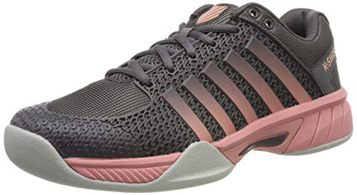 K-Swiss Performance Damen Express Light Carpet Tennisschuhe, Schwarz (Plum Kitten/Coral ALM/Gull Gr 094-M), 39 EU