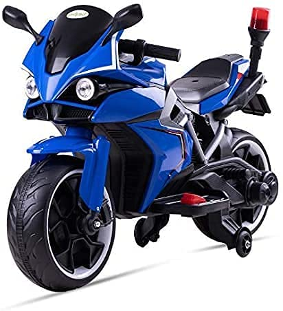 GoodLuck Baybee Kids Rechargeable Battery Operated Ride-on Bike and Baby Ride on/Kids Ride on Toys -Kids Bike - Baby Bike for Kids to Drive Toys Suitable for Boys & Girls (Blue)
