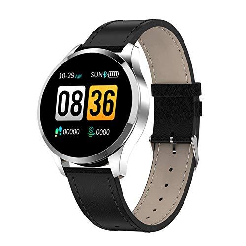 ZRY Q9 Smart Watch Mensaje Impermeable Mensaje De Llamada Recordatorio Smartwatch Hombre Meno Monitor De Ritmo Cardíaco Moda Fitness Tracker PK Q8 Q1 para iOS Android,A