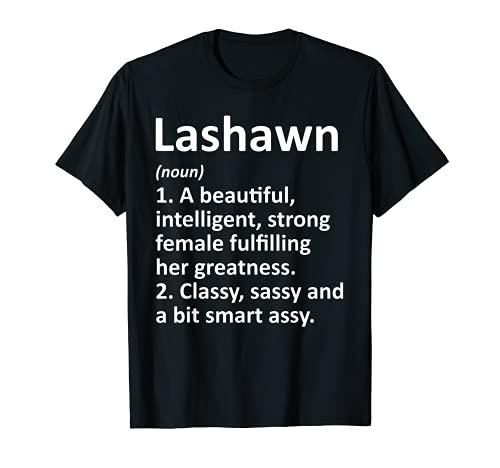 LASHAWN Definición Personalizado Nombre Divertido Regalo de Navidad Camiseta