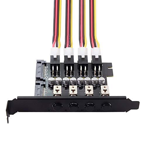 4 Festplatten Control System Intelligent Control Management System HDD SSD Power Switch mit PCI Halterung