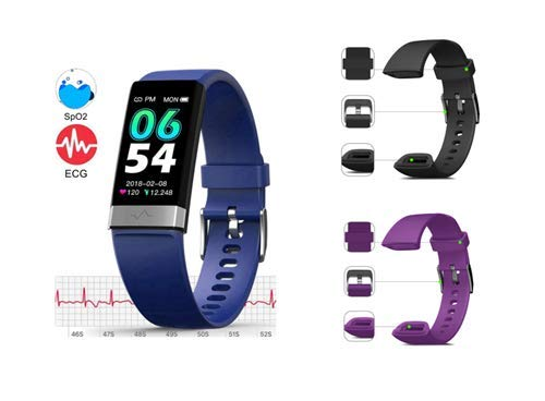 MorePro SPO2 Blood Oxygen Blood Pressure Heart Rate Monitor Waterproof Fitness Tracker Activity Tracker HRV Health Watch with Enhanced Sleep Monitor for Android iOS Women Men(Bundle Goods)