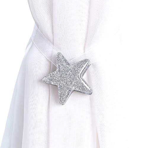 bismarckber Embrasses de rideaux magnétiques en forme d'étoile - Décoration d'intérieur