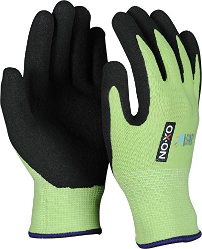 HandschuhMan. OX-ON Kids Junior Kinderhandschuhe Gartenhandschuhe Arbeitshandschuhe für Kinder 4-6 Jahre (4-6 Jahre, Grün)