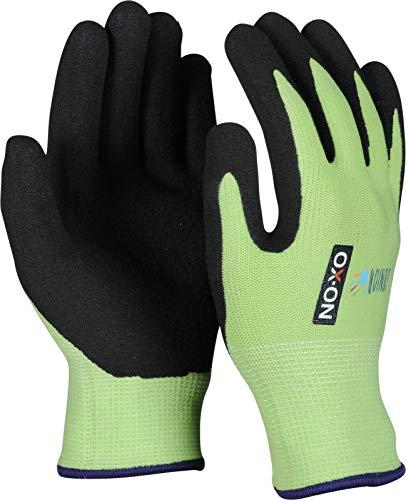 HandschuhMan. OX-ON Kids Junior Kinderhandschuhe Gartenhandschuhe Arbeitshandschuhe für Kinder 4-6 Jahre (8-10 Jahre, Grün)