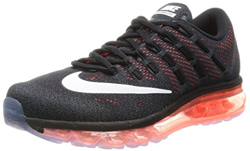 Nike Air Max 2016 Mens Running Trainers 806771 Sneakers Shoes (UK 7 US 8 EU 41, Black White Total Crimson 008)