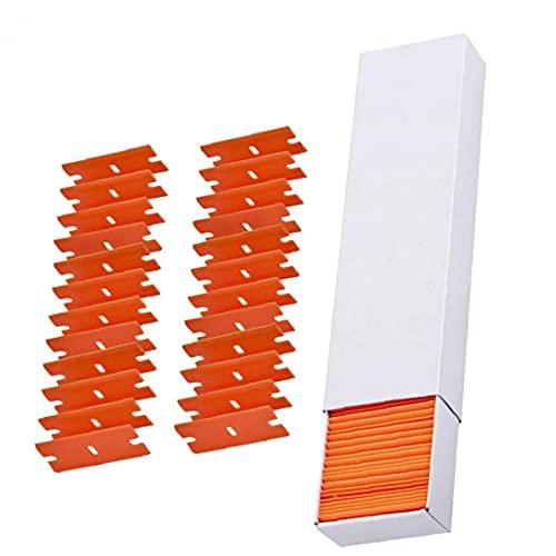 Razor raspador reemplazo doble filo de plástico Etiqueta removedor de fondo de pantalla 100PCS del Desgaste y Resistencia a la presión