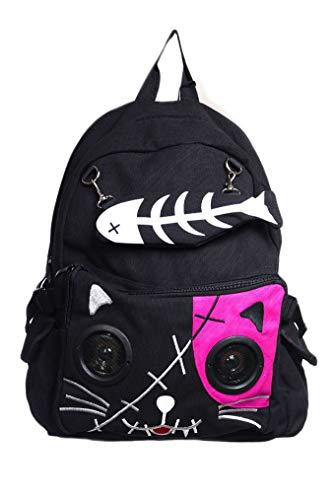 Banned Clothing Rucksack mit Katzenmotiv, Rosa