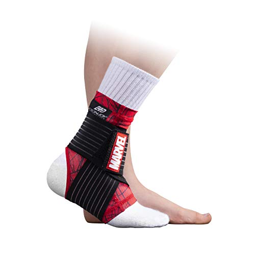 DonJoy Advantage Kids Figure-8 Ankle Support Featuring Marvel Compression Brace for Ankle Injuries Stability Youth Children Running Sports Basketball Soccer Tennis - Spider-Man XX-Small