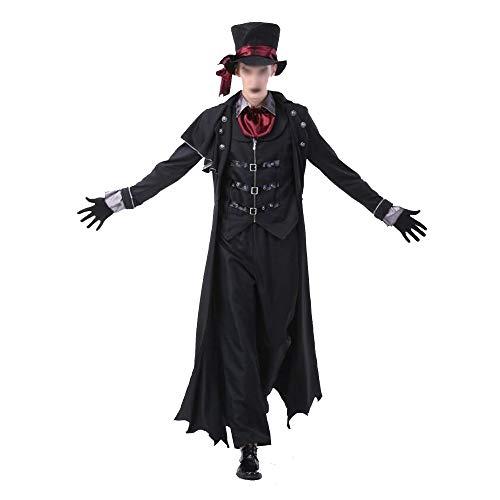 Neuartiges Cosplay Neuartige Cosplay Serie Männliche und weibliche Halloween-Kostüme for Erwachsene Paar Earl Vampir Kostüm Teufel geladen Zombie-Anzug Halloweenkostüm ( Color : Male , Size : M )