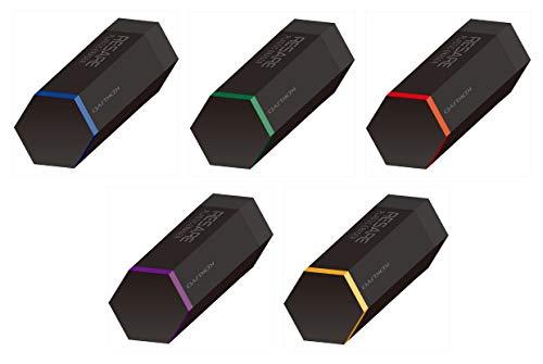 コクヨ 消しゴム プラスチック消しゴム(リサーレ) 黒 ケシ-R1-L1 5柄5個組み