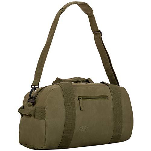 Highlander Unisex Adult Cargo Bag 30 liter robuuste canvastas, ideaal voor op reis of als sporttas, olijfgroen, 30L