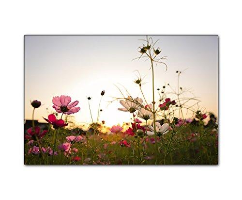 PB Art - Blumenbild 80 x 120 cm als Kunstdruck auf Leinwand und Holzkeilrahmen - Beste Qualität, handgefertigt in Deutschland!