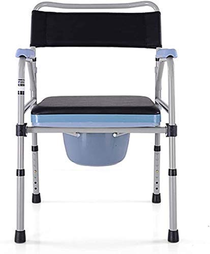 Home Foldable Height Adjustable Bath Stool Padded Bathing Commode Chair and Toilet Surround with Padded Seat and Back for Bathing Over Toilet Chair 93