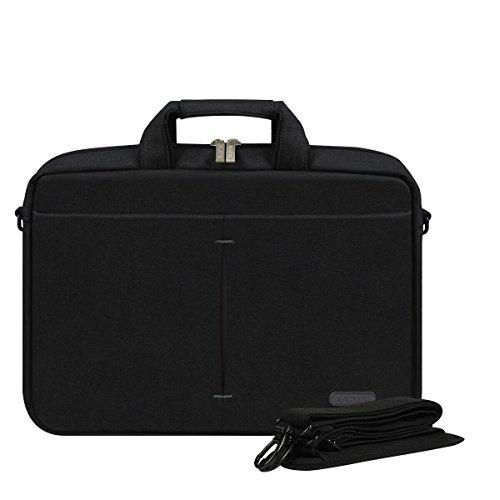 Arvok 15-15.6 Zoll Laptoptasche Aktentaschen Handtasche Tragetasche Schulter Tasche Notebooktasche Laptop Sleeve Laptop hülle für bis zu 15-15.6 Zoll Laptop Dell/MacBook/Lenovo/HP, Schwarz
