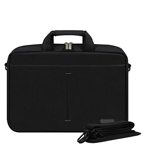 "Arvok 15"" 15,6"" Funda Protectora para Portatil Impermeable Maletín para MacBook Pro, MacBook Air, Funda Bandolera para HP/Dell/Samsung/Toshiba/Sony/Acer/ASUS/Lenovo Notebook y Tablet, Negro"